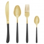 Preview: Bloomingville Besteck-Set Black/Gold