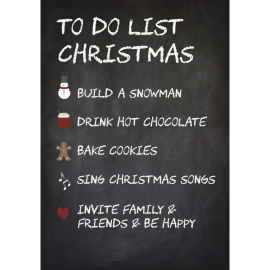 "IB Laursen Schild ""To Do List Christmas"""