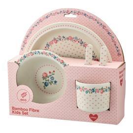 "GreenGate Kinder-Geschirrset ""Ruby Petit White"" (5er Set)"