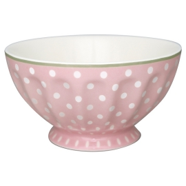 "GreenGate French Bowl ""Spot Pale Pink"" XL"