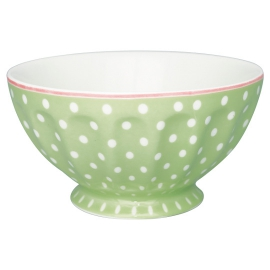 "GreenGate French Bowl ""Spot Pale Green"" XL"