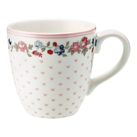 "GreenGate Kinder-Tasse ""Ruby Petit White"""