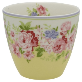 "GreenGate Latte Cup ""Rose Pale Yellow"""