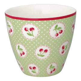 "GreenGate Latte Cup ""Cherry Berry Green"""
