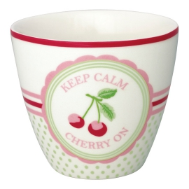 "GreenGate Latte Cup ""Cherry Mega White"""
