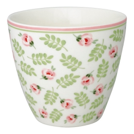 "GreenGate Latte Cup ""Lily Petit White"""