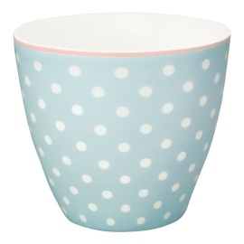 "GreenGate Latte Cup ""Spot Pale Blue"""
