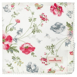 "GreenGate Serviette mit Spitze ""Meadow White"""