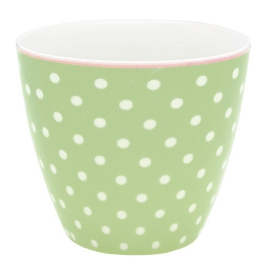 "GreenGate Latte Cup ""Spot Pale Green"""