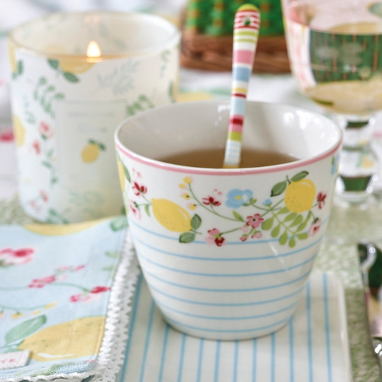 "GreenGate Latte Cup ""Limona White"""