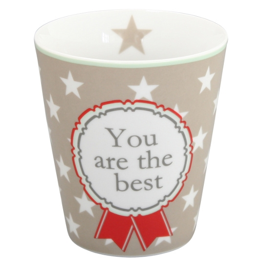 "Krasilnikoff Becher Happy Mugs ""You are the Best"""