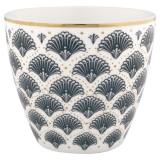 "Gate Noir by GreenGate Latte Cup ""Elvina Grey"""
