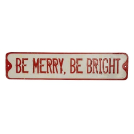 "Bloomingville Schild ""Be Merry, Be Bright"""