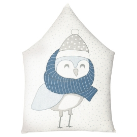 GreenGate Kissen Owl Pale Blue