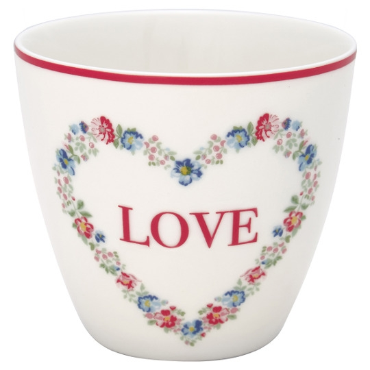 GreenGate Latte Cup Heart Love White